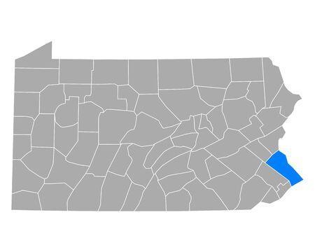 Map of Bucks in Pennsylvania