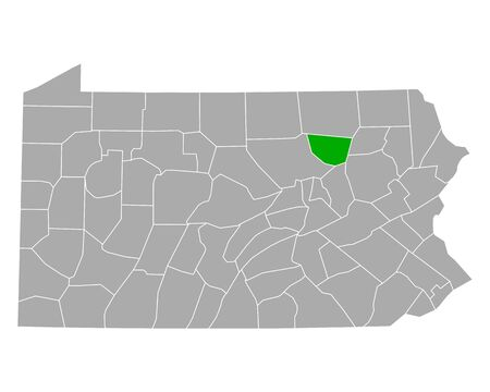 Map of Sullivan in Pennsylvania