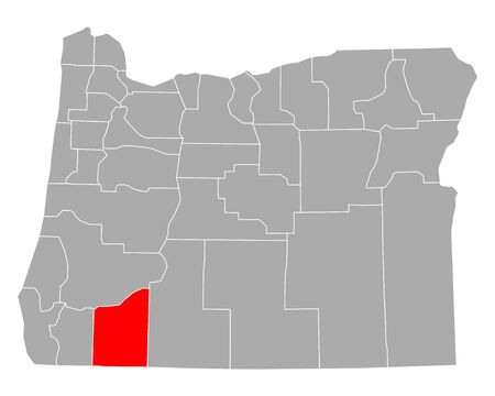 Map of Jackson in Oregon