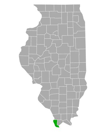 Map of Alexander in Illinois 向量圖像