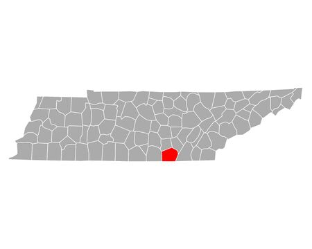 Map of Marion in Tennessee