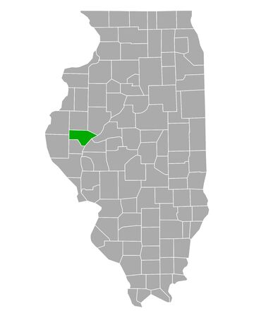 Map of Schuyler in Illinois
