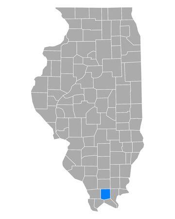 Map of Johnson in Illinois