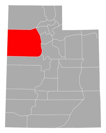 Map of Tooele in Utah