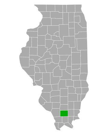 Map of Williamson in Illinois