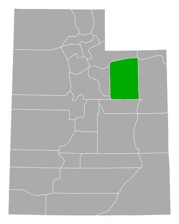 Map of Duchesne in Utah