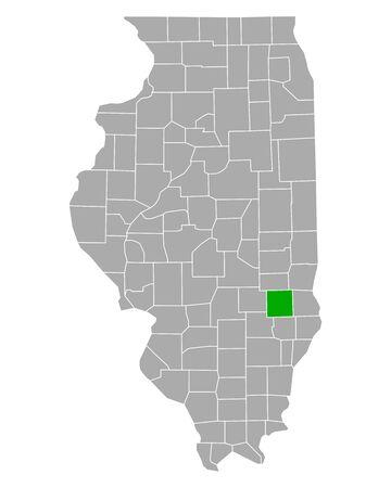 Map of Jasper in Illinois 向量圖像