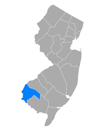Map of Salem in New Jersey