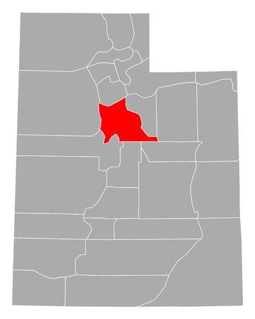 Map of Utah in Utah