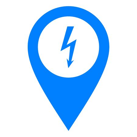 Lightning and location pin