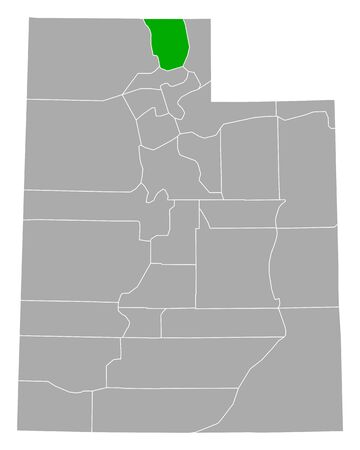 Map of Cache in Utah