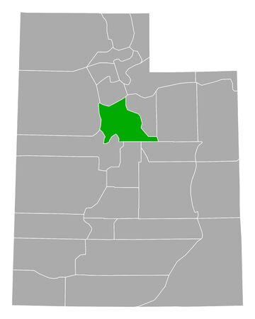Map of Utah in Utah 向量圖像
