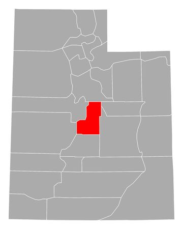 Map of Sanpete in Utah