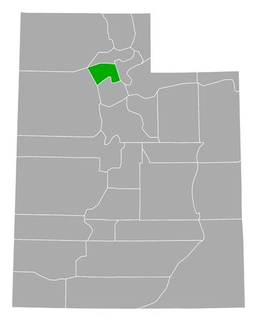 Map of Davis in Utah