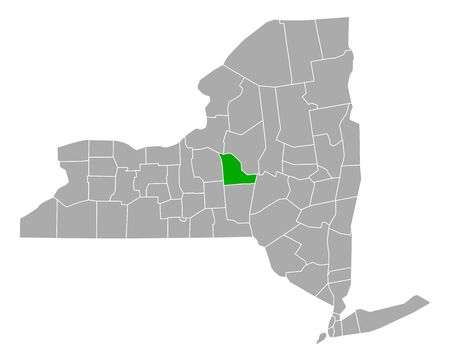 Map of Madison in New York