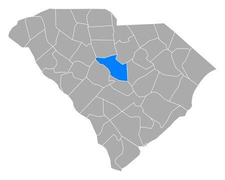 Map of Richland in South Carolina