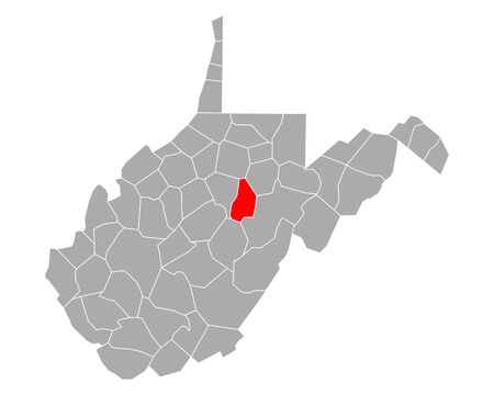 Map of Upshur in West Virginia