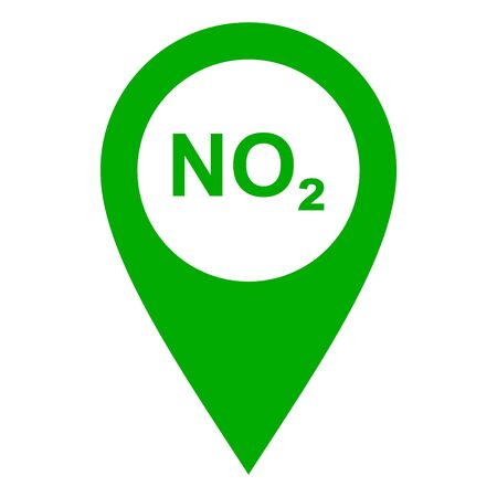 Nitrogen dioxide and location pin
