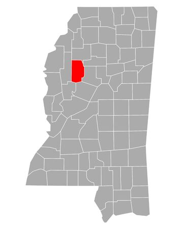 Map of Leflore in Mississippi