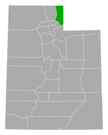 Map of Rich in Utah