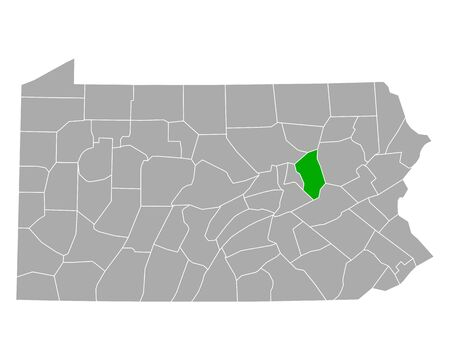 Map of Columbia in Pennsylvania