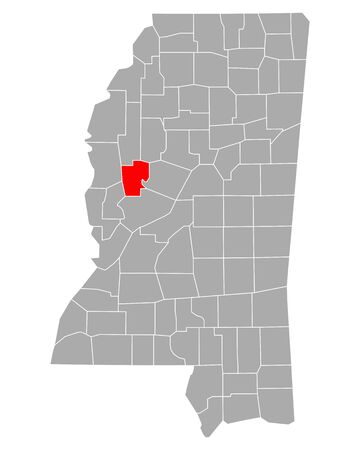 Map of Humphreys in Mississippi