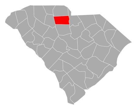 Map of Chester in South Carolina