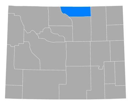 Map of Sheridan in Wyoming