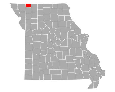 Map of Worth in Missouri