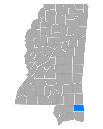 Map of George in Mississippi