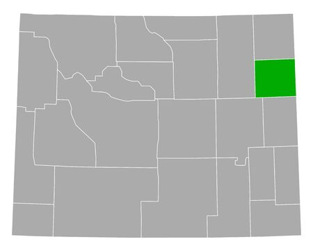 Map of Weston in Wyoming