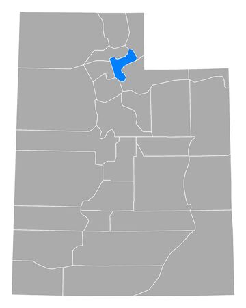 Map of Morgan in Utah 矢量图像