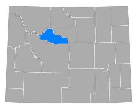 Map of Hot Springs in Wyoming
