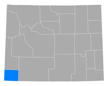 Map of Uinta in Wyoming