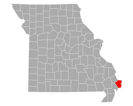 Map of Mississippi in Missouri