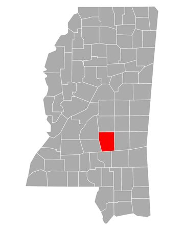 Map of Smith in Mississippi
