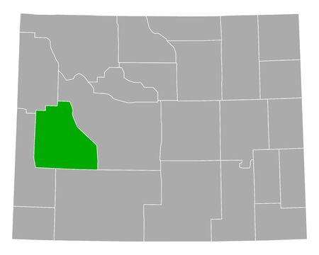 Map of Sublette in Wyoming