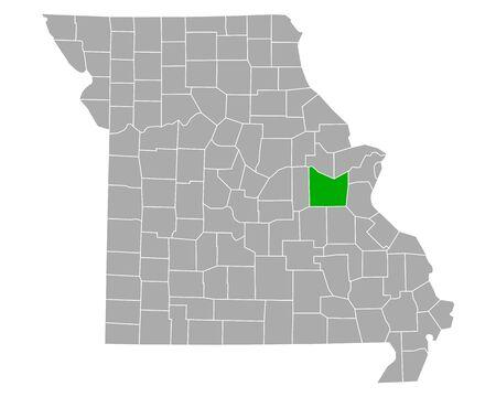 Map of Franklin in Missouri