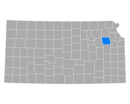Map of Shawnee in Kansas