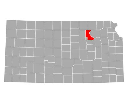 Map of Riley in Kansas