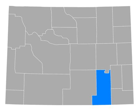 Map of Albany in Wyoming 向量圖像