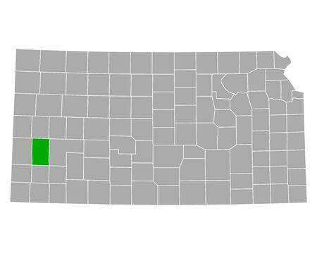 Map of Kearny in Kansas