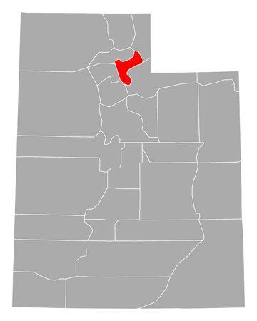 Map of Morgan in Utah