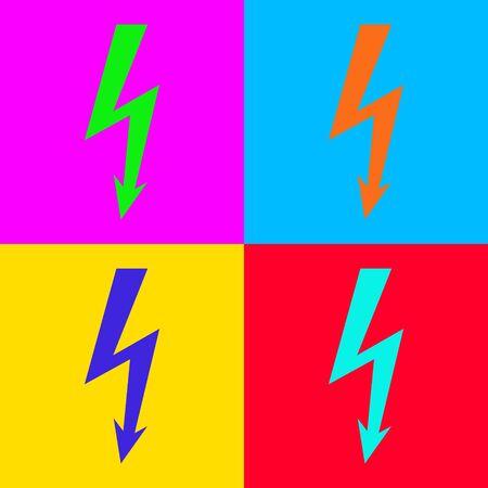 Lightning and pop-art illustration