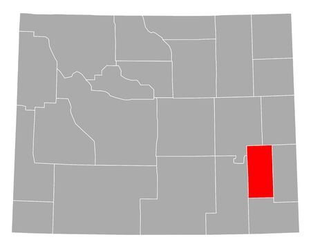Map of Platte in Wyoming