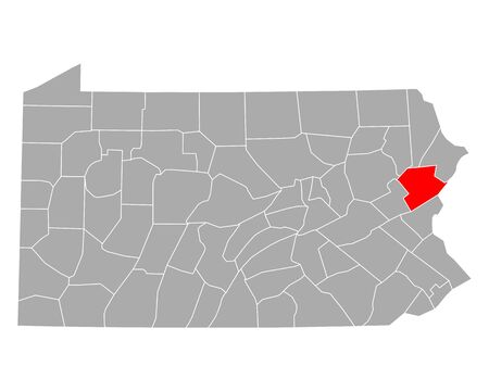 Map of Monroe in Pennsylvania
