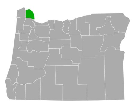 Map of Columbia in Oregon
