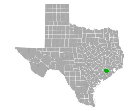 Map of Fort Bend in Texas