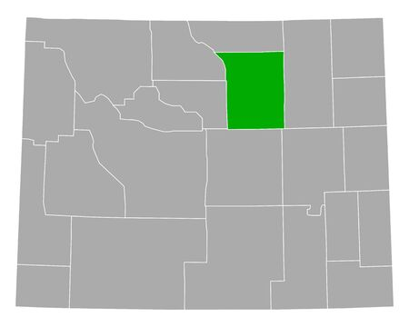 Map of Johnson in Wyoming 向量圖像