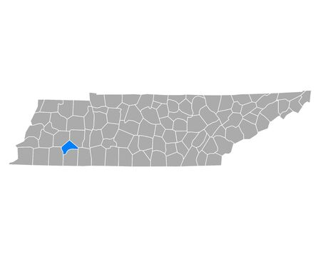 Map of Chester in Tennessee